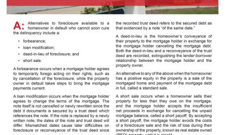 Client Q&A: What are a homeowner's foreclosure alternatives?
