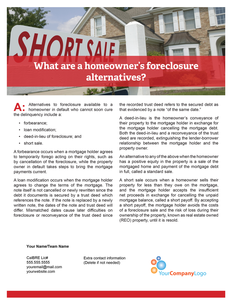 Foreclosure-alternatives