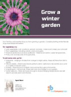 FARM: Grow a winter garden