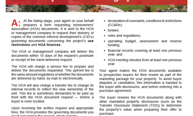 Client Q&A: What documents do I need to request from my HOA when selling my unit?