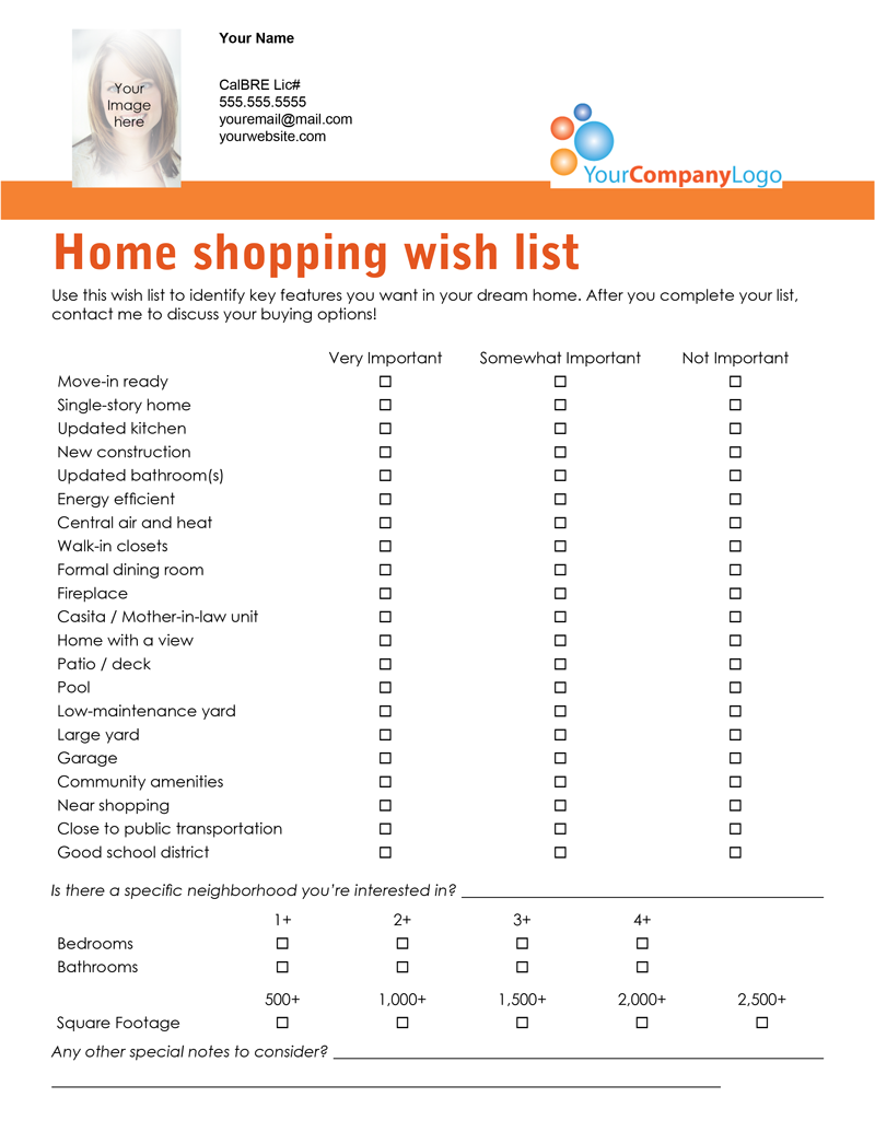 farm  home shopping wish list