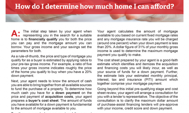 Client Q&A: How do I determine how much home I can afford?
