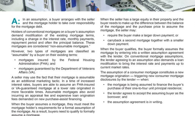Client Q&A: What are the benefits of assuming the seller's mortgage?