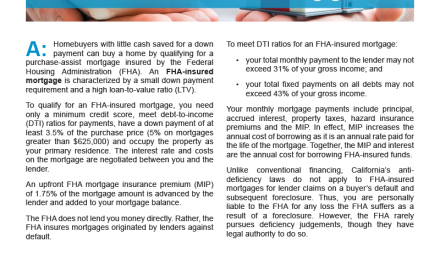 Client Q&A: What is an FHA-insured mortgage?