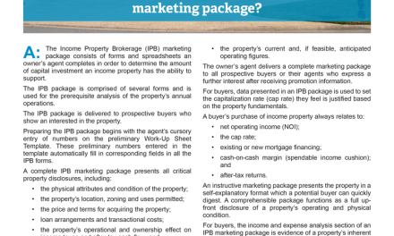Client Q&A: What is an Income Property Brokerage (IPB) marketing package?