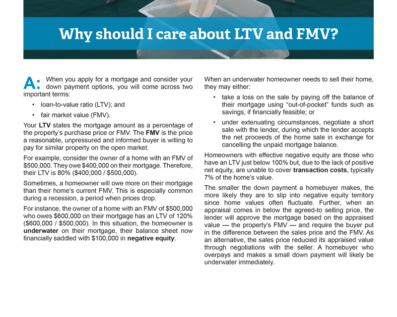 Client Q&A: Why should I care about LTV and FMV?