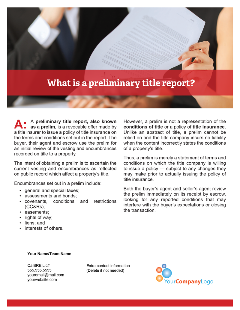 I-Preliminary-title-report