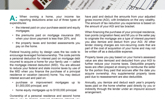 Client Q&A: What are my tax deductions when I become a homeowner?