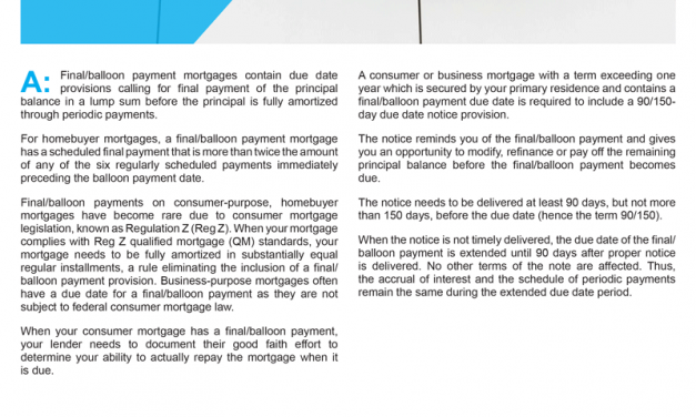 Client Q&A: What is a balloon payment mortgage?