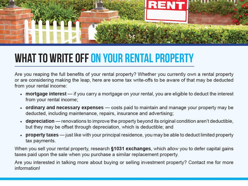 FARM: What to write off on your rental property