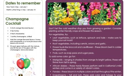 FARM: January Newsletter -D1
