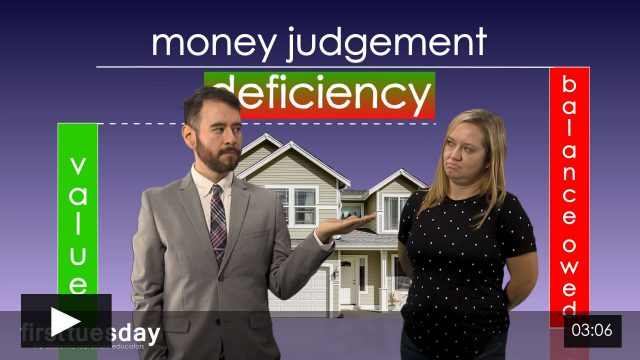 Judicial Foreclosure and Pursuit of the Deficiency