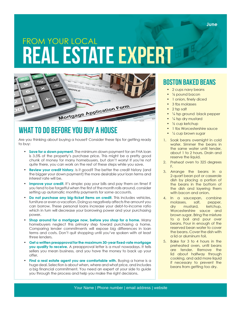 june newsletter d3 prospecting for real estate - What Does Cv Mean In Real Estate