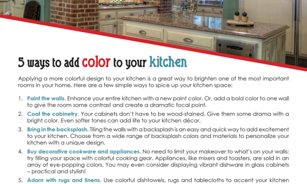 FARM: 5 ways to add color to your kitchen