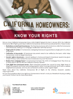 FARM: California homeowners: know your rights