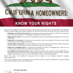 Homeowner rights