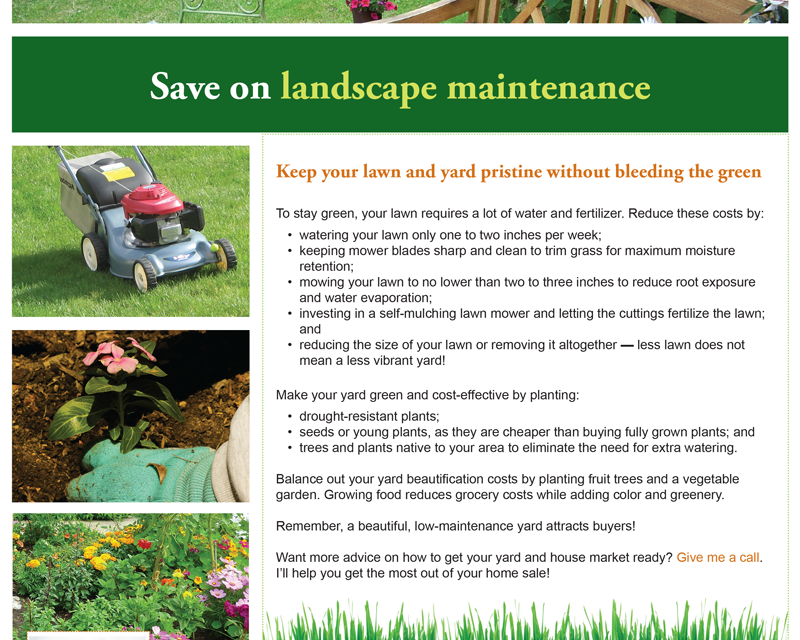 FARM: Save on landscape maintenance