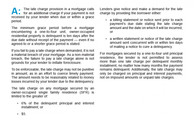Client Q&A: What happens when I'm late on a mortgage payment?
