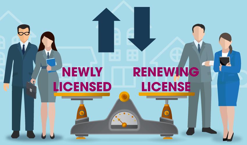 Sales agent license renewals decline in 2020