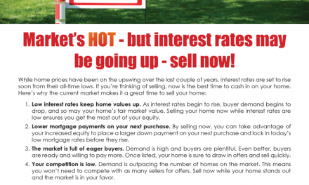 FARM: Market's hot – but interest rates may be going up – sell now!
