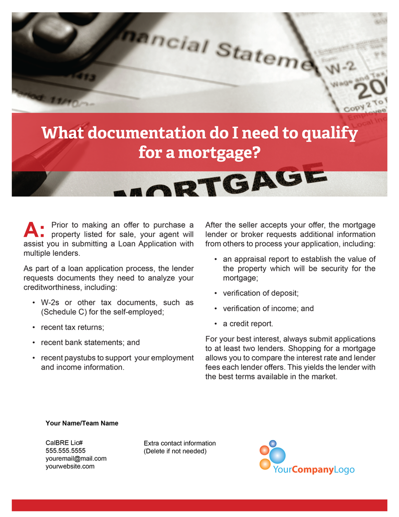 Mortgage-documentation