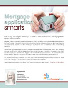 Mortgage Application Smarts
