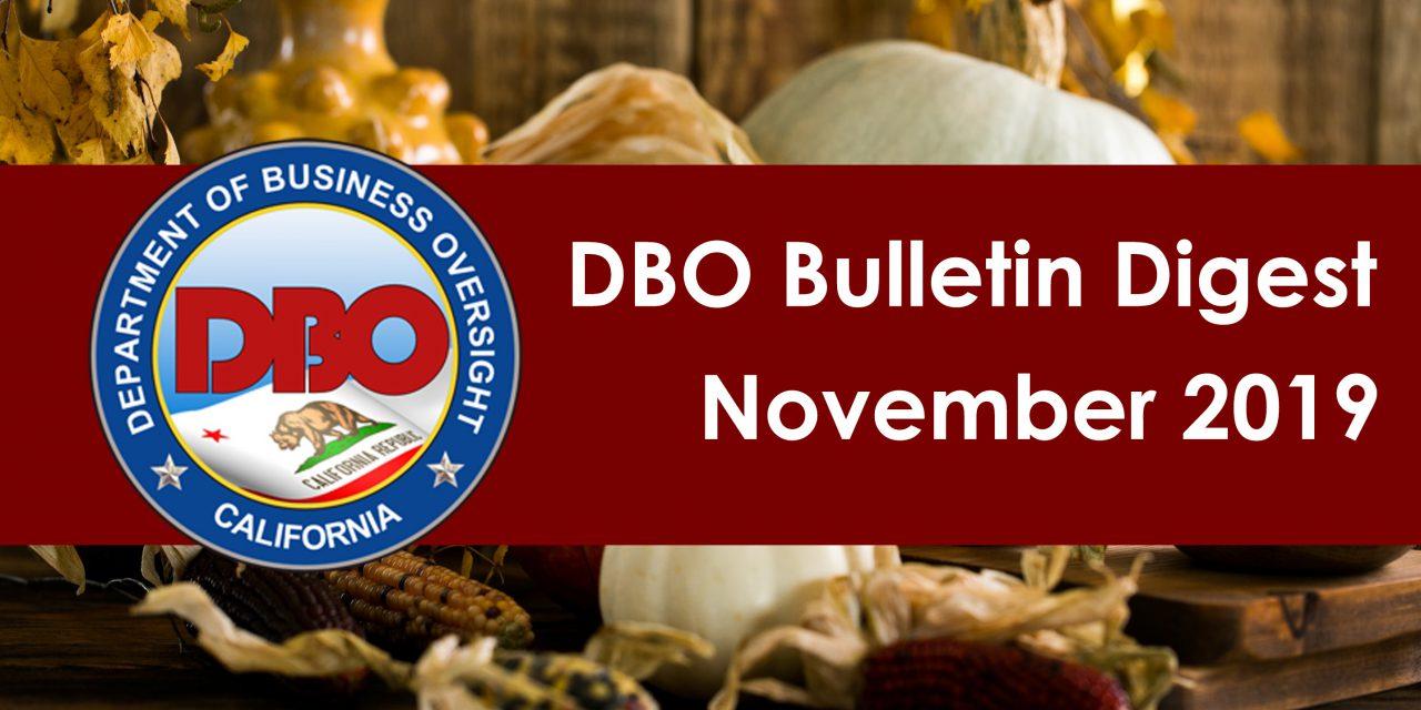 DBO Bulletin Digest November 2019