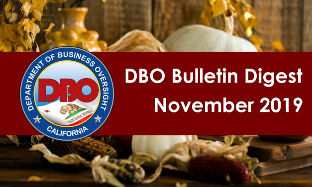 DBO Bulletin Digest November 2019