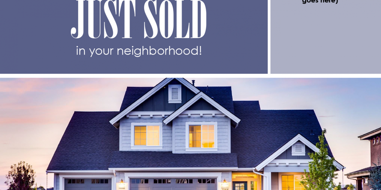 FARM: Another home has just sold in your neighborhood! – postcard