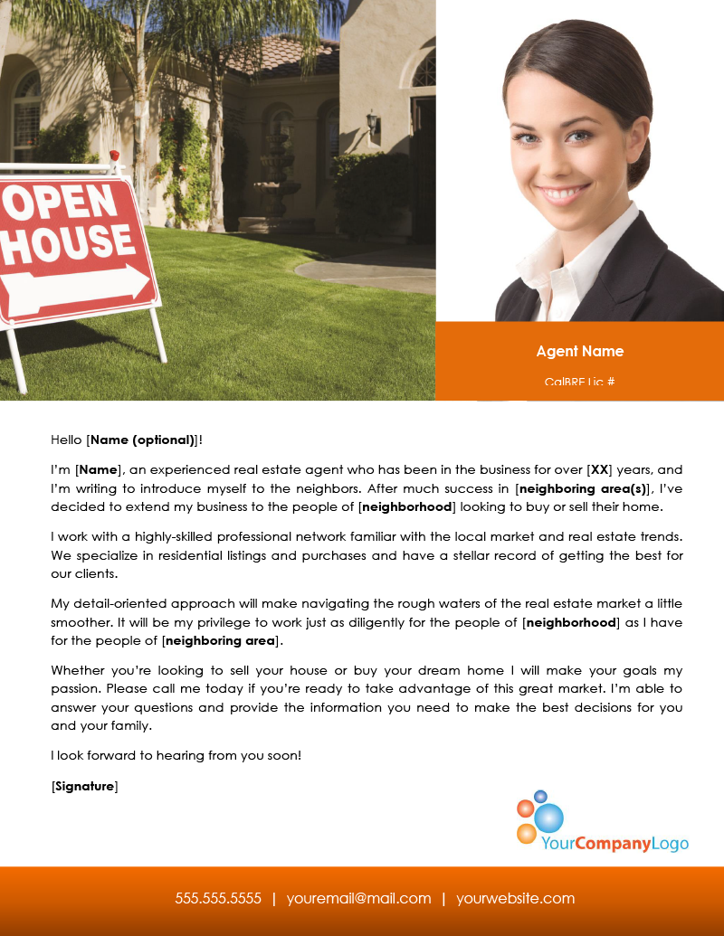 realtor introduction letter realtor introduction letter cover letter examples 7260