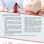 Budgeting tips for new homeowners