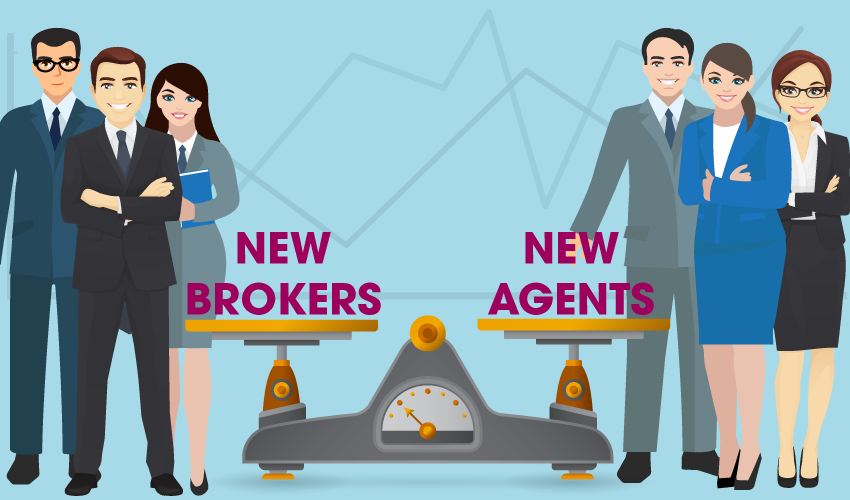 Newly licensed sales agent and broker population