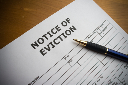 Does a bankruptcy stay stop an eviction after forfeiture of the tenant's occupancy?