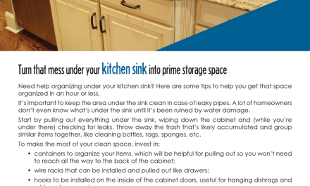 FARM: Turn that mess under your kitchen sink into prime storage space