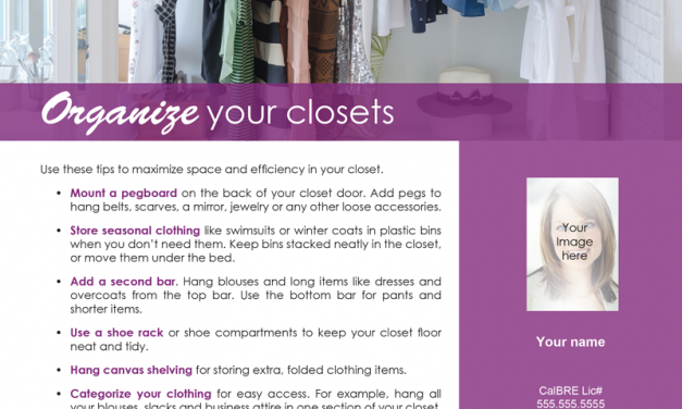 FARM: Organize your closets