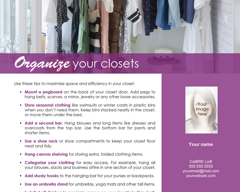 FARM: Organize your closets