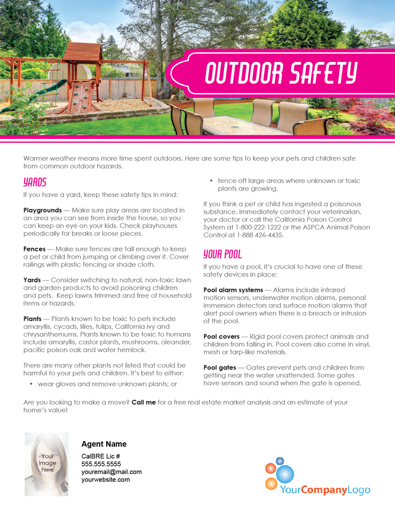 FARM: Outdoor safety | first tuesday Journal