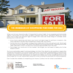 Overpricing your home