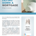 Paying down a mortgage