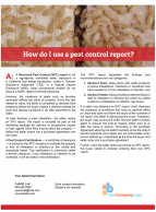 Client Q&A: How do I use a pest control report?