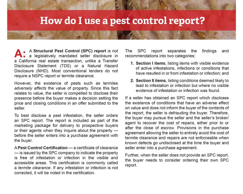 Client Q&A: How do I use a pest control report?