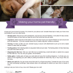 Making your home pet-friendly