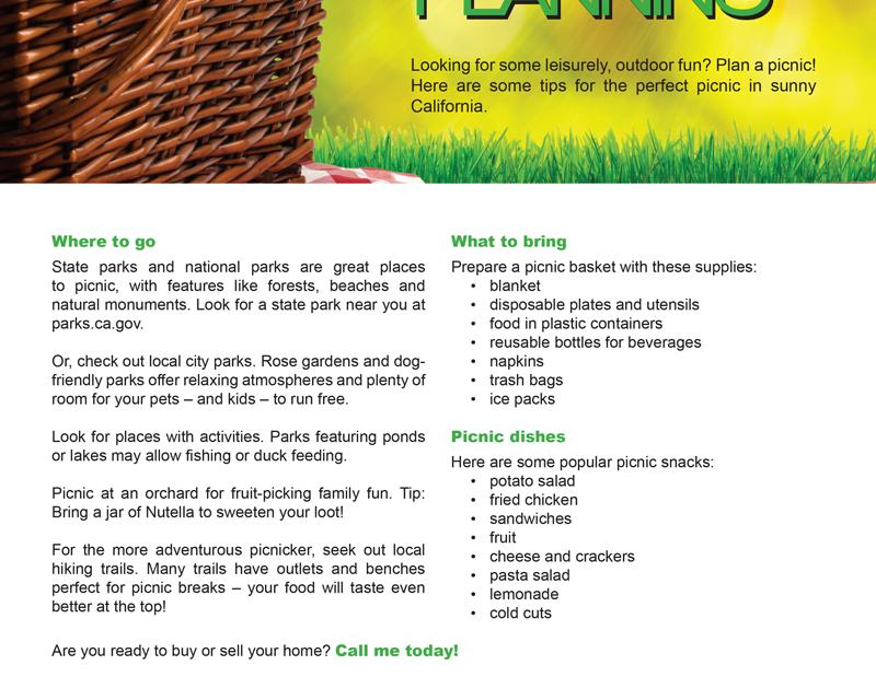 FARM: Picnic planning
