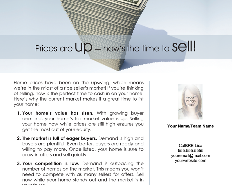 FARM: Prices are up – now's the time to sell!