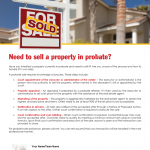 Sell a property in probate
