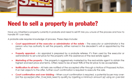 FARM: Need to sell a property in probate?