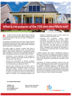 Client Q&A: What is the purpose of the TDS and who fills it out?