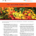 Autumn home fixes