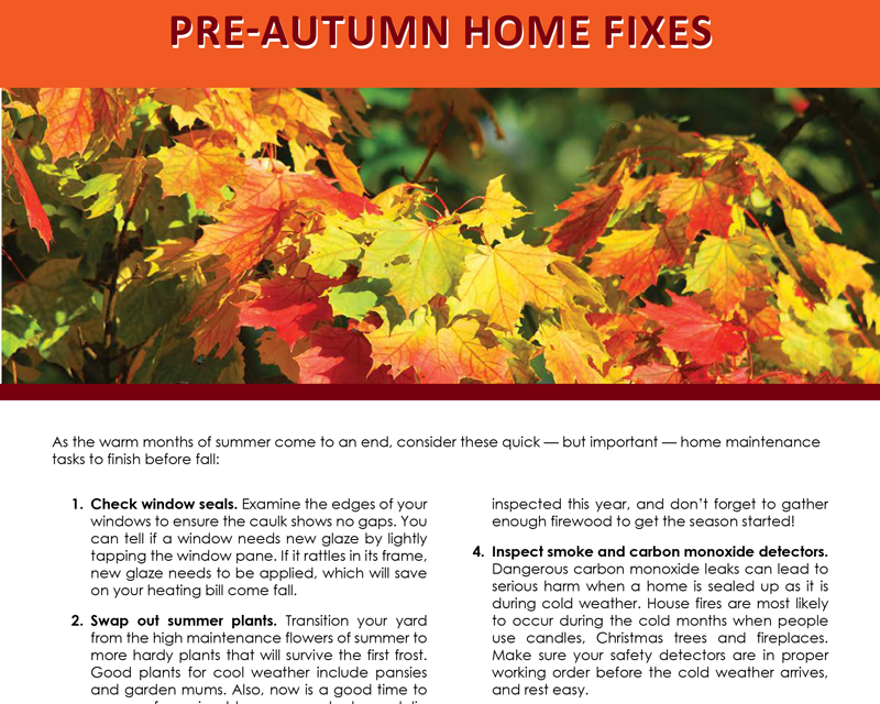FARM: Pre-autumn home fixes