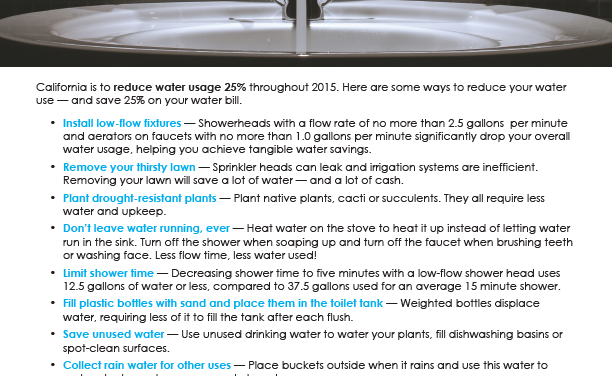 FARM: Reduce your water usage by 25%, save 25%